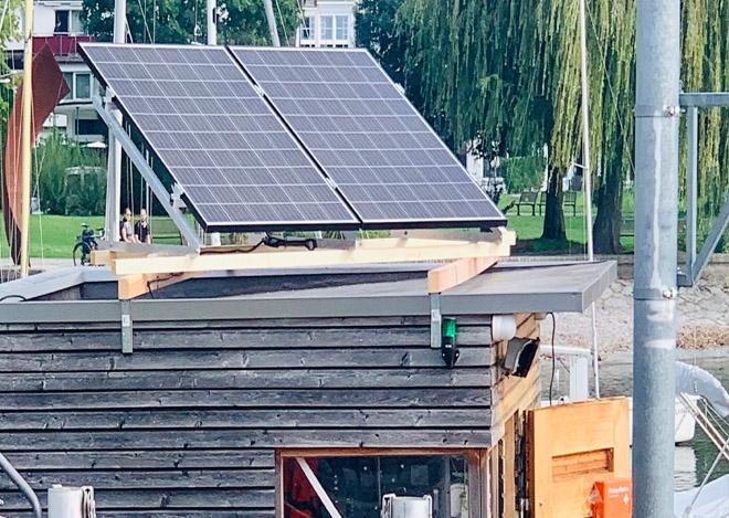 PV Photovoltaikanlage Bootsverleih Wasserburg Bodensee